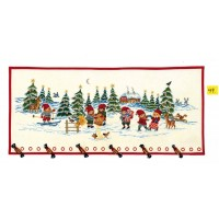 Calendar, pixies in snow