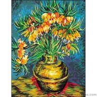 Les fritillaires d'après Van Gogh