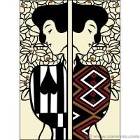 Silhouette d´apres Klimt