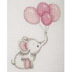 Elefante globos rosas