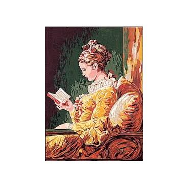 Jeune fille lisant d'après FRAGONARD