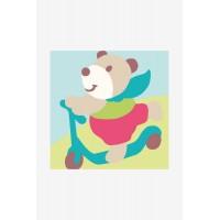 L`Ours à la trotinette