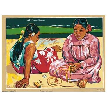 Femmes de Tahiti d'après Gauguin
