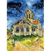 Eglise d'Auvers sur oise d'après Van Gogh